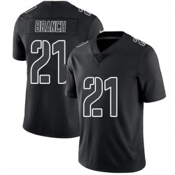 Limited Men's Cliff Branch Oakland Raiders Nike Jersey - Black Impact