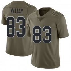 Limited Youth Darren Waller Oakland Raiders Nike 2017 Salute to Service Jersey - Green